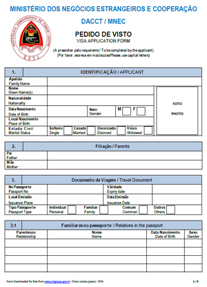 Visa Application Form Website Version pdf thumbnail